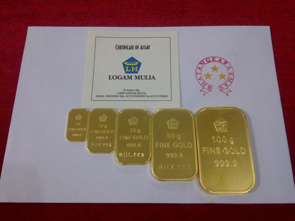 Harga Emas Antam Tergerus Penguatan Dollar As